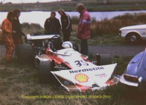 "March 752-Cosworth GAA Tom Walkinshaw  Mallory Park Shellsport F5000 1975 7x5"" photo"